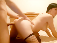 Promiscuous Brunette Nailed Doggy