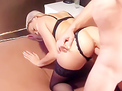 Blonde Facialized After Anal