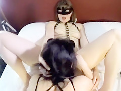 Two Hot French Sluts Fucking in a Threesome
