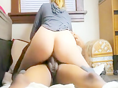 Pippin Girl in Knee High Socks Tries a Black Dong