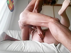 Fatty in Pantyhose Gets Fucked