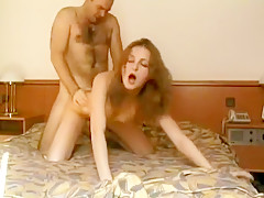 Older Bald Guy Pounds a Young Chick