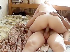 Loving Couple Banging on Bed