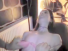 Young German whore gets gangbanged and drenched in cum while her man is filming