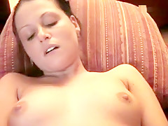 Pussy play with vibrator making her nice and wet for intercourse