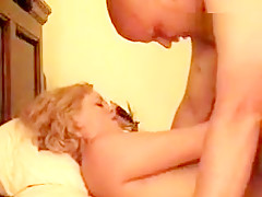 Pounding my fine wife POV after feeding her some dick