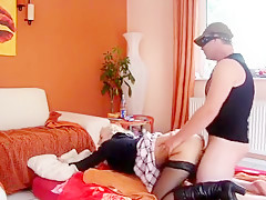 Gorgeous blonde stripper got banged roughly in bed