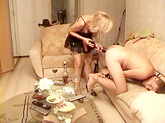Fucking my husband with a strapon after tying him up