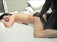 Cuckold wife used by two black bulls