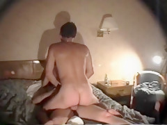 Kinky hot blonde milf cheats and gets double penetrated by strangers in a hotel