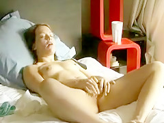 Orgasm in her bed