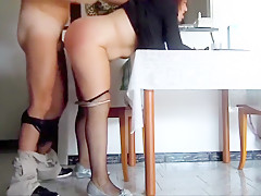 German wife fucked from behi...