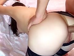 Hard butt fucking his girlfr...