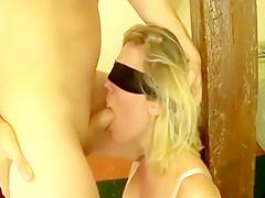 Lovely blonde wife deepthroa...