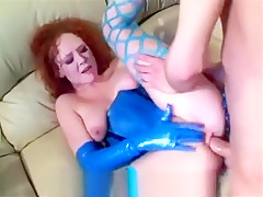 Red hairy anal sex in stocki...