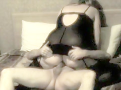 BBW lingerie climaxing