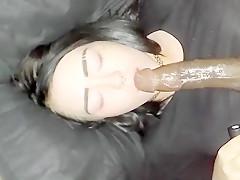 BBC fucks her throat till ha...