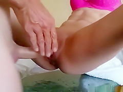 Fabulous exclusive choke, female orgasm, blowjob porn movie