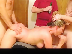 Fabulous exclusive blowjob, groupsex, bedroom adult clip
