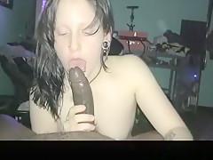 Exotic exclusive black hair, deeptroath, cum in mouth porn clip