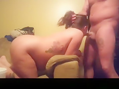 Incredible private inked, doggystyle, ass licking sex movie