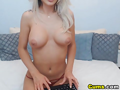 Beautiful Blonde Plays Her Wet Hot Pussy