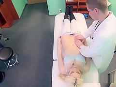 Blonde fucks doctor till gets cumshot