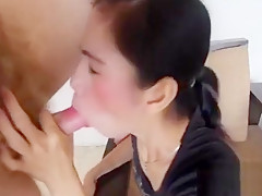Adorable thai whore bounces on a hard dong and groans loudly