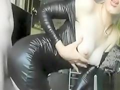 Blond Girl In Latex Fucks Hard