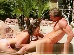 Pretty Ex Girlfriend Outdoors Sucking Dick In Pool