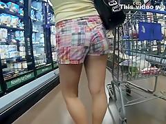 Amateur chicks voyeur fucking in public place