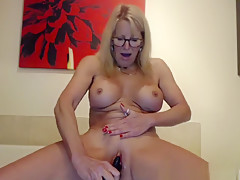 Naked busty milf Puma Swede playing with boobs and pussy