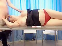 Big boobs teen sucking my cock