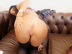 Sexy Blonde and Hot Brunette lick each other fuck and get