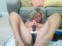 Busty blonde bbw riding cock