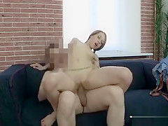 Teen positions on camera and gets screwed by a crazy agent