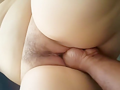 Hot hairy BBW masturbates her fat pussy