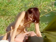 Incredible amateur shaved pussy, lake, riding porn movie