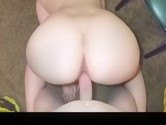Exotic homemade doggystyle, creampie sex video