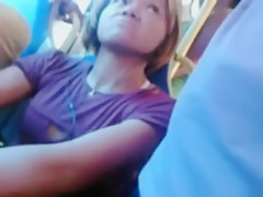 Horny exclusive bus, public, funny adult video