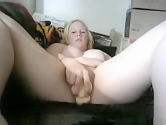 Horny private suck dildo, blonde, american adult video