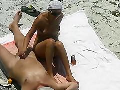 Fabulous amateur beach, small tits, nudist sex movie