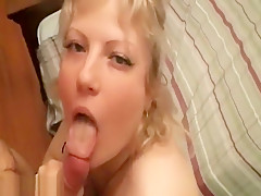 Bubbly Blonde With Giant Knockers Works A Dong