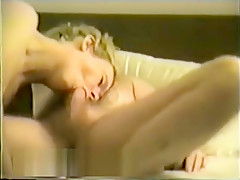 Blonde Milf Gobbles Her Man On Bed