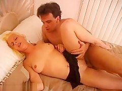Mature Blonde Gets Drilled Doggy-Style.