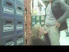 Blonde Whore Fucked Hardcore In A Mall