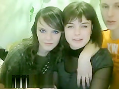 Two Cure Babes And A Dude On Webcam