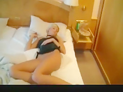 Blonde In A Hotel Room Sucking A Shaved Dick