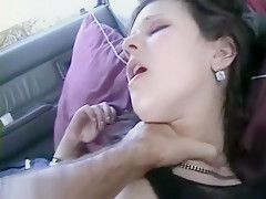 Babe With Shaved Brows Getting Her Mouth Full Of Cock