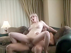 Blonde With Big Tits Sucks A Dick